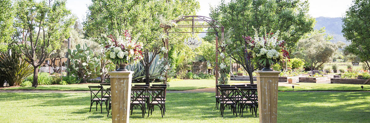 Tre Posti wedding outdoor set up